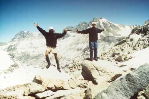 Jim and Leslie In Sierras with Ice Ax
