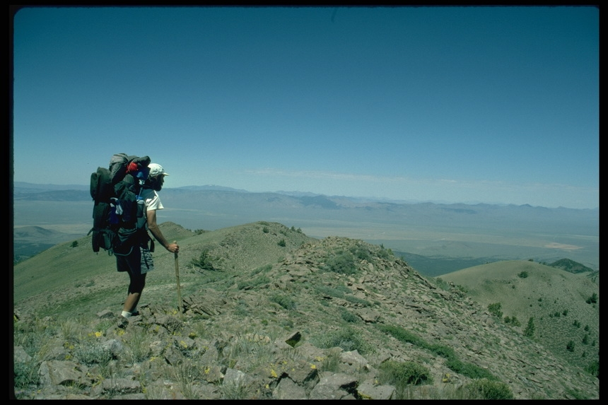 Looking_toward_the_Toquima_Range_and_desert_walking_in_between