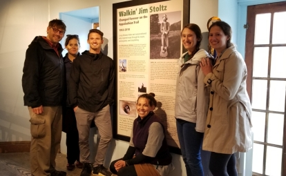 Jim's nieces and nephews visit the Walkin' Jim AT Museum Exhibit